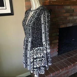 Free People Dresses - NWT Free People Tegan Mini Dress Black Combo Sz 8
